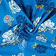 """Шитье ручной работы. Ярмарка Мастеров - ручная работа. Купить Итальянская ткань, хлопок 100%, """"Голубые пионы"""". Handmade. Голубой"""