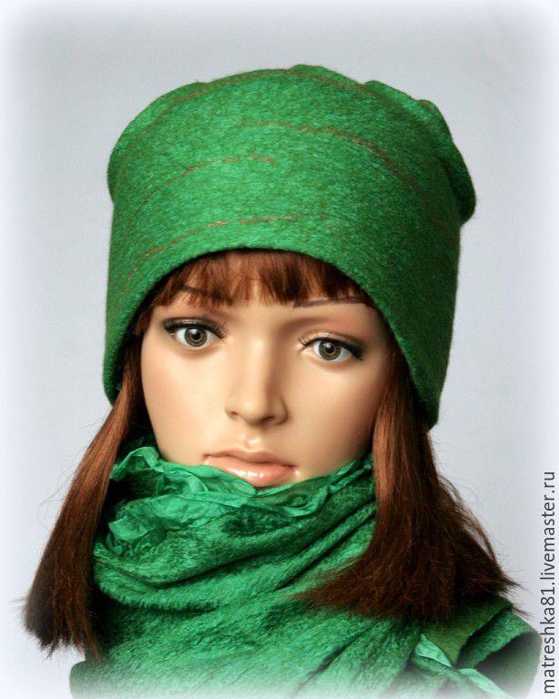 Шапка валяная..зелень, Шапки, Хабаровск,  Фото №1