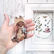 Куклы и игрушки ручной работы. Ярмарка Мастеров - ручная работа 9.5 см - мини-Монти Черничка - миниатюрный мишка Тедди. Handmade.