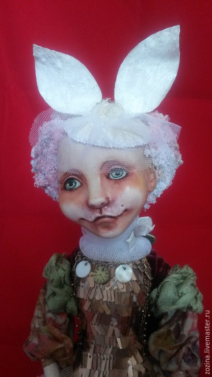 Коллекционные куклы ручной работы. Ярмарка Мастеров - ручная работа. Купить Алиса (Белый Кролик). Handmade. Авторская кукла, кукла