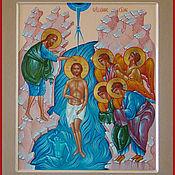 """Иконы ручной работы. Ярмарка Мастеров - ручная работа икона """"Крещение Господня"""". Handmade."""