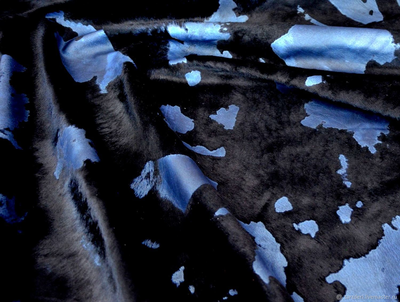 Натуральная кожа с ворсом Сине-черная, Кожа, Анкара,  Фото №1