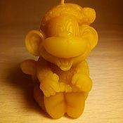 Свечи ручной работы. Ярмарка Мастеров - ручная работа Восковая свеча обезьянка. Handmade.