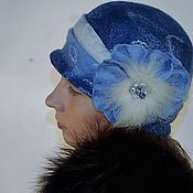 Аксессуары handmade. Livemaster - original item felted hat womens with brooch. Handmade.