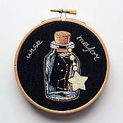 Картины и панно ручной работы. Ярмарка Мастеров - ручная работа Созвездие Большая медведица (Ursa major) в миниатюрной бутылочке. Handmade.