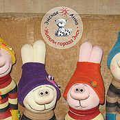 Куклы и игрушки ручной работы. Ярмарка Мастеров - ручная работа Игрушка из носка  Мартовский Заяц. Handmade.
