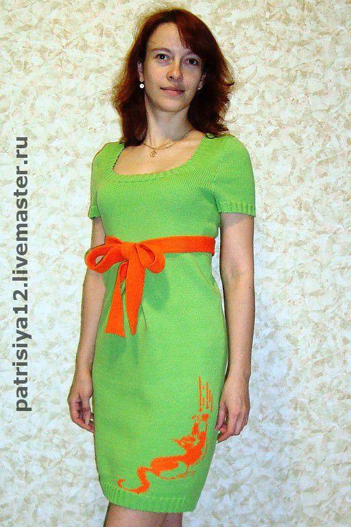 """Платья ручной работы. Ярмарка Мастеров - ручная работа. Купить платье """"Весна пришла"""". Handmade. Вязаное платье, вышивка Рококо"""
