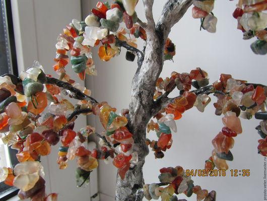 Деревья ручной работы. Ярмарка Мастеров - ручная работа. Купить Дерево счастья Березка из сердолика и яшмы. Handmade. Береза из камней