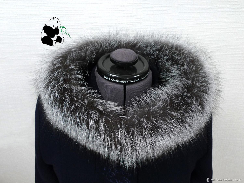 A furry. The finish on the hood Fox fur, Collars, Ekaterinburg,  Фото №1