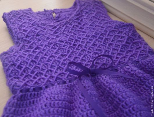 """Одежда для девочек, ручной работы. Ярмарка Мастеров - ручная работа. Купить Сарафан теплый """"Вайолет"""". Handmade. Тёмно-фиолетовый"""