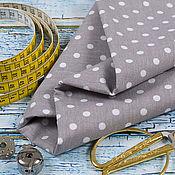 Ткани ручной работы. Ярмарка Мастеров - ручная работа Ткань Горох белый (Польша, бязь, 100% хлопок). Handmade.