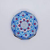 Сувениры и подарки handmade. Livemaster - original item Mirror blue with the author`s painting. Handmade.