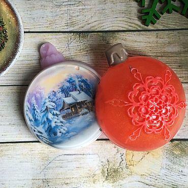 Косметика ручной работы. Ярмарка Мастеров - ручная работа Мыло Новогодний шар. Handmade.