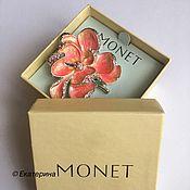 Винтаж handmade. Livemaster - original item Brooch Monet flower.. Handmade.