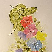 """Картины и панно ручной работы. Ярмарка Мастеров - ручная работа Картина """"Цветочный Дракон"""". Handmade."""