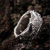 """Кольца ручной работы. Ярмарка Мастеров - ручная работа """"Песнь моря"""" серебряное кольцо унисекс. Handmade."""