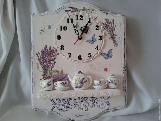 Часы для дома ручной работы. Ярмарка Мастеров - ручная работа. Купить Часы пано с полочкой. Handmade. Часы, пано