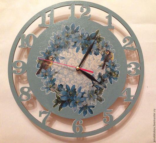 Часы для дома ручной работы. Ярмарка Мастеров - ручная работа. Купить Настенные часы. Handmade. Комбинированный, часы, ручная работа