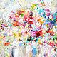 """Натюрморт ручной работы. Ярмарка Мастеров - ручная работа. Купить Картина абстракция  """"fleurs fantaisie""""цветочная фантазия. Handmade. Картина"""
