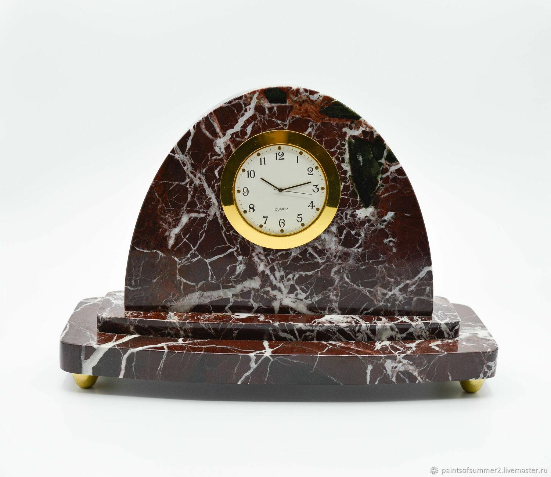 Часы из мрамора ROSSO LEVANTO, Часы классические, Москва,  Фото №1