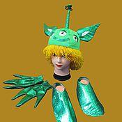 Карнавальные головные уборы ручной работы. Ярмарка Мастеров - ручная работа Аксессуары к костюму космического пришельца, шапочка, перчатки и обувь. Handmade.