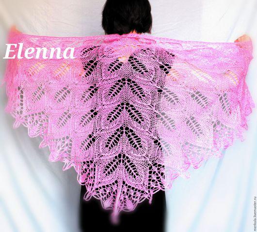 Шали, палантины ручной работы. Ярмарка Мастеров - ручная работа. Купить Розовая мохеровая шаль. Handmade. Розовый, треугольная шаль