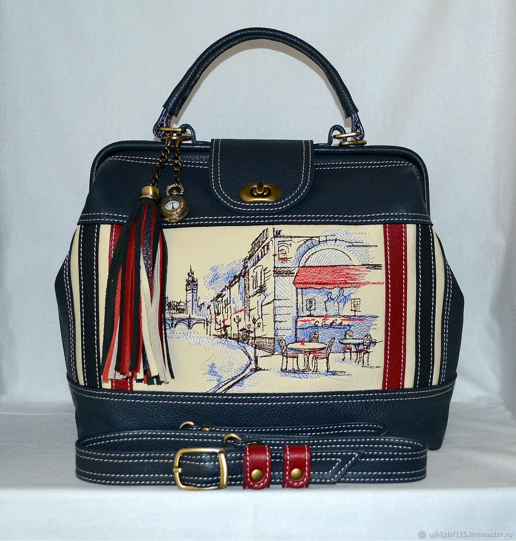 d4567e7baab9 Женские сумки ручной работы. Ярмарка Мастеров - ручная работа. Купить  Женская сумка-саквояж ...