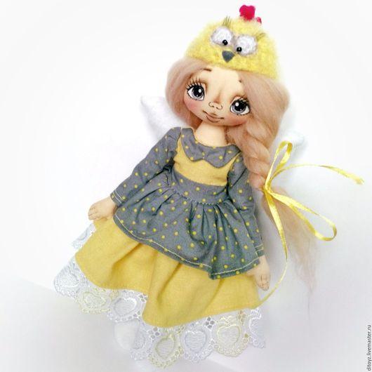 Коллекционные куклы ручной работы. Ярмарка Мастеров - ручная работа. Купить Ангел подарок, 27 см. Handmade. Подарок девочке