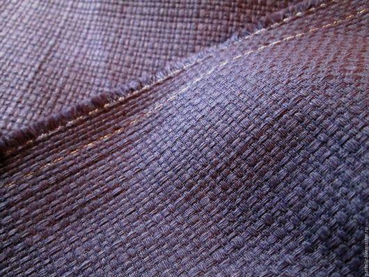 Шитье ручной работы. Ярмарка Мастеров - ручная работа. Купить Рогожка, Италия. Handmade. Тёмно-фиолетовый, ткань, жакет