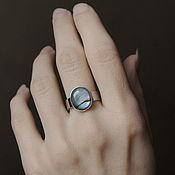 """Украшения ручной работы. Ярмарка Мастеров - ручная работа """"Волшебный пейзаж"""" кольцо с перламутром. Handmade."""