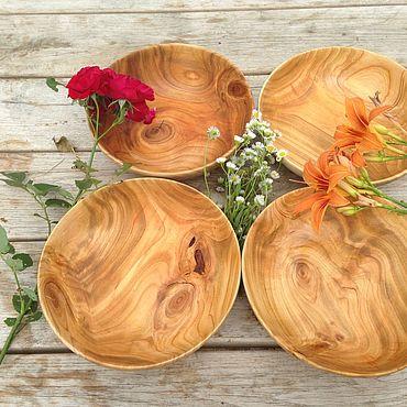 Посуда ручной работы. Ярмарка Мастеров - ручная работа Салатники из черешни. Handmade.