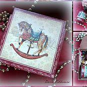 Подарки к праздникам ручной работы. Ярмарка Мастеров - ручная работа Набор с 3-мя колокольчиками Рождественский. Handmade.