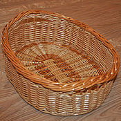 Для дома и интерьера ручной работы. Ярмарка Мастеров - ручная работа Поднос плетеный - для хлеба, овальный из ивовой лозы. Handmade.