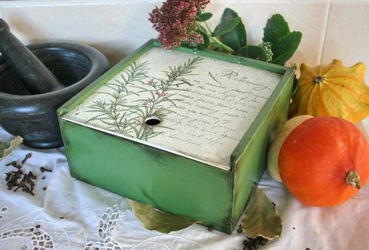 """Кухня ручной работы. Ярмарка Мастеров - ручная работа. Купить Короб для специй """"Rosemary"""". Handmade. Банка для продуктов"""