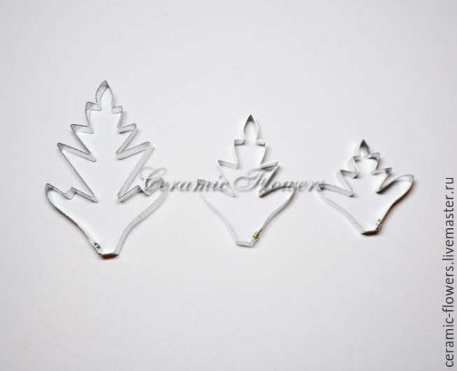 The chrysanthemum leaf cutter 3 set, Cutters, Rostov-on-Don,  Фото №1