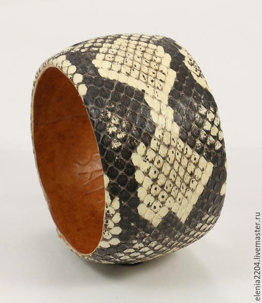 """Браслеты ручной работы. Ярмарка Мастеров - ручная работа. Купить Браслет  из натуральной кожи змеи """"Sadio"""". Handmade. Кожа змеи"""