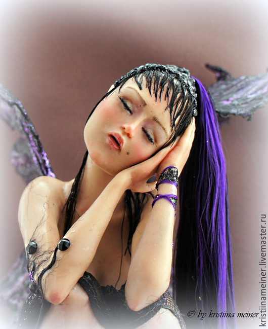 Коллекционные куклы ручной работы. Ярмарка Мастеров - ручная работа. Купить Авторская кукла Лиловые Сны. Handmade. Авторска кукла, для нее