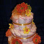 Подарки к праздникам ручной работы. Ярмарка Мастеров - ручная работа Подарок из памперсов. Handmade.