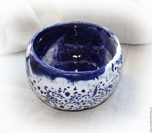 """Пиалы ручной работы. Ярмарка Мастеров - ручная работа. Купить Керамическая чаша """"Синяя зимняя ночь"""". Handmade. Тёмно-синий"""