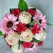 Цветы и флористика ручной работы. Ярмарка Мастеров - ручная работа Букет из конфет. Зефирные розы. Handmade.