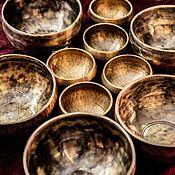 Поющие чаши ручной работы. Ярмарка Мастеров - ручная работа Поющие чаши: Кованная поющая чаша ручной работы 13 см диаметр. Handmade.