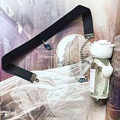Украшения ручной работы. Ярмарка Мастеров - ручная работа Чокер  бархат с голубым кристаллом. Handmade.