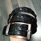 Аксессуары handmade. Livemaster - original item Men`s belt, made of a raised part of genuine crocodile leather.. Handmade.