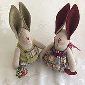 Куклы и игрушки ручной работы. Ярмарка Мастеров - ручная работа Кантри-Зайки. Handmade.
