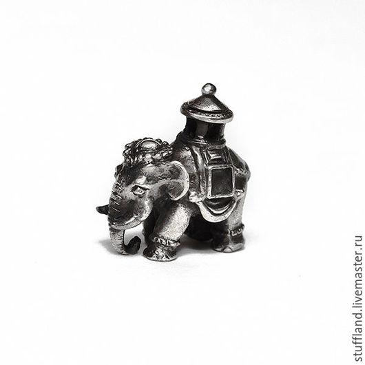 серебряный кулон «Слон»