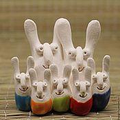 Мягкие игрушки ручной работы. Ярмарка Мастеров - ручная работа Семья зайцев. Handmade.