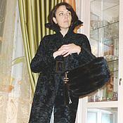 """Одежда ручной работы. Ярмарка Мастеров - ручная работа Шубка """"чёрный муар"""". Handmade."""