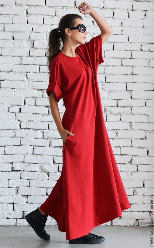 Платья ручной работы. Ярмарка Мастеров - ручная работа. Купить Красное платье Red Maxi. Handmade. Платье в пол