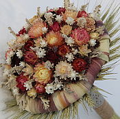 """Букеты ручной работы. Ярмарка Мастеров - ручная работа """"Зимняя сказка"""" - букет из сухоцветов. Handmade."""