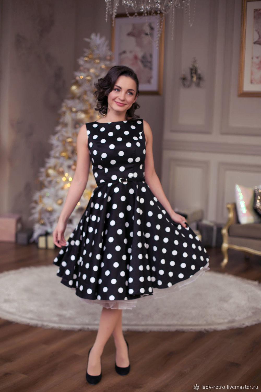 bab4f7b84733909 Платье в горошек – купить в интернет-магазине на Ярмарке Мастеров с ...